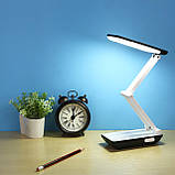 Настольная светодиодная лампа YAGE YG-5951 White аккумулятор 1200 мАч гибкая настольная для офиса дома, фото 6