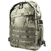 Рюкзак городской KAKA KA-666 Camouflage Green тактический USB для зарядки влагоотталкивающий потайной карман
