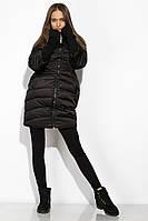 Пальто женское с митенками 120PSKL2101 (Черный)