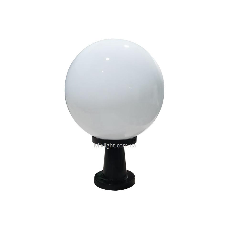 Светильник уличный шар опал d-30см с опорой 18см