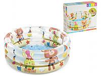 """Детский надувной бассейн животные, INTEX (р. 61х22 см.) Китай, от 1 шт. """"BPL"""""""