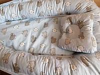 Кокон-позиционер для новорожденного гнездо кокон для ребёнка Барашек