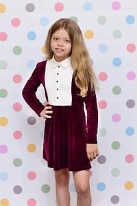 Плаття для дівчинки бордо Sunny-Bunny ПШ0214 зростання 134