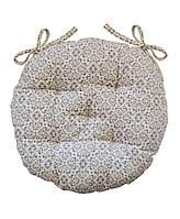 Подушка для стільця кругла D 40 Bella Сірий вітраж SKL58-251950