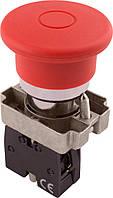 Кнопка «грибок» с фиксацией e.mb.bt42 красный, 1NC, фото 1