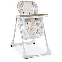 Раскладной стульчик для кормления «Bambi» M 3890 FUSION BEIGE для девочки или мальчика бежевый