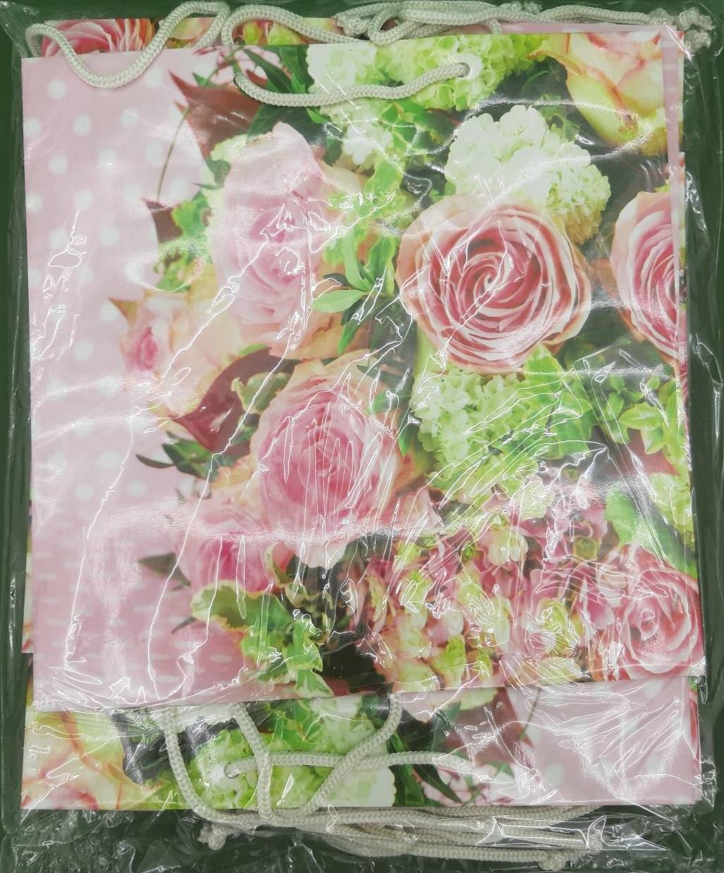 Пакет бумажный подарочный квадратный ы 23*24*10(артKV-144) (12 шт)