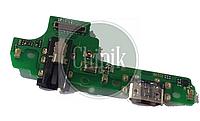 Разъем заряда на плате для Samsung A107, Galaxy A10s 2019, с разъемом наушников, micro-USB