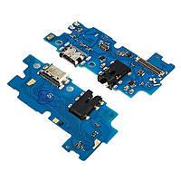 Разъём зарядки для SAMSUNG A507 Galaxy A50S (2019) на плате с микрофоном и компонентами (ID:24142)