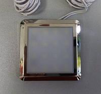 Светильник мебельный LED квадрат 12В 1Вт 6000К (автомобильный), фото 1