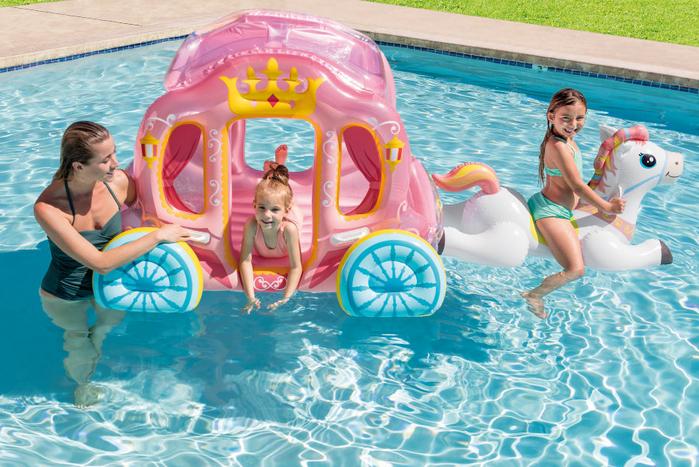 Надувной игровой центр-бассейн Intex 56514 Карета Принцессы, детский бассейн, для детей