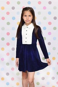 Плаття для дівчинки синє Sunny-Bunny ПШ0210 ріст 140