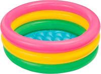 """Детский надувной бассейн полоски, INTEX (р. 86х25 см.) Китай, от 1 шт. """"BPL"""""""