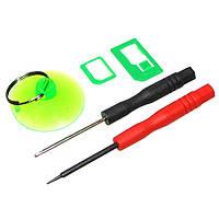 Набор инструментов BAKU BK7296 для iPhone (Отвертки +1.3 и звезда 0.8, Nano-sim адаптер, присоска) (ID:8062)