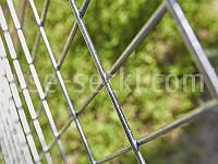 Горячеоцинкованная сетка для габионов. Ячейка: 100х50 мм, Ø 4,0 мм, габариты 1,5х2 м.