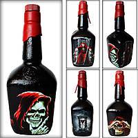 Сувенирная бутылка на Хэллоуин «Вкус смерти» Декор в стиле готика фентези череп и кости