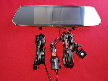 Сенсорный видеорегистратор зеркало с камерой заднего вида F700 Full HD 1080p