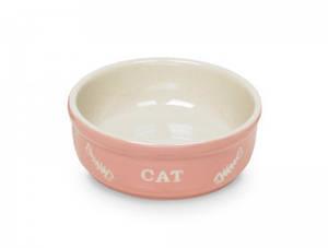 Миска для кошек керамическая розово-бежевая Нобби 73365 240 мл