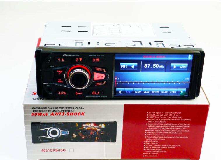 В машину магнітола Pioneer 4038 CRB з дисплеєм 4.1