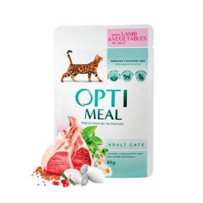 Optimeal Ягненок и овощи в желе консервы для кошек 85 г 85 г