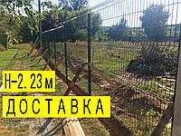 3d забор из сварной сетки 2,23м/ППЛ/3D/4