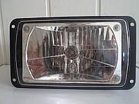 Фара КАМАЗ, КАМАЗ ЕВРО, КРАЗ, МАЗ, ЛАЗ, 12В, Н4, прямоугольная с лампой (пр-во Украина) рифленое стекло