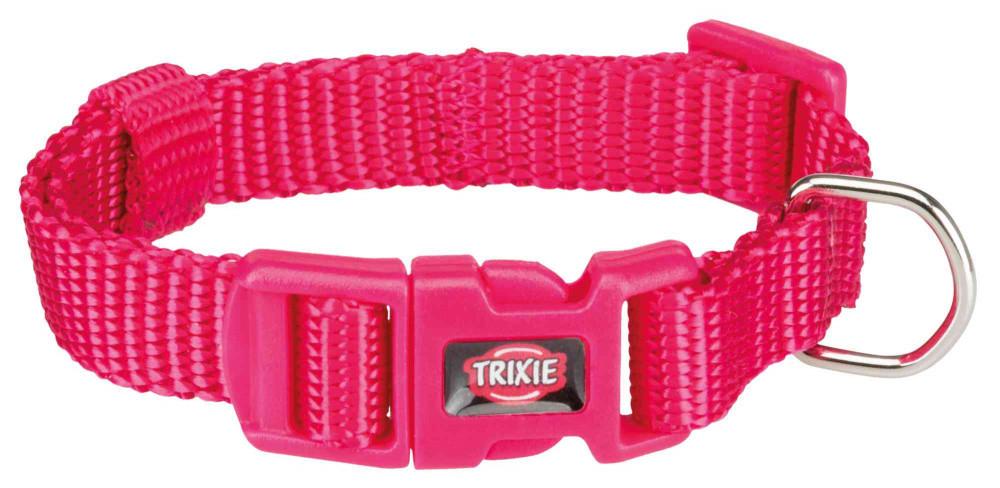 Нашийник нейлон XXS-XS 15-25 см 10 мм Premium Фуксія Trixie для собак та котів