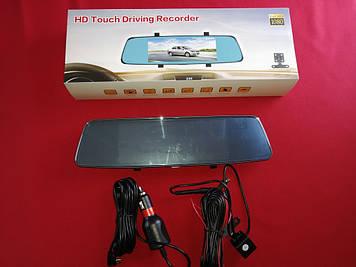 Видеорегистратор зеркало HD Touch Driving Recorder  V30 + Камера заднего вида! Full HD
