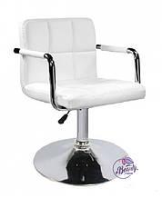 Кресло Артур, экокожа, белого цвета