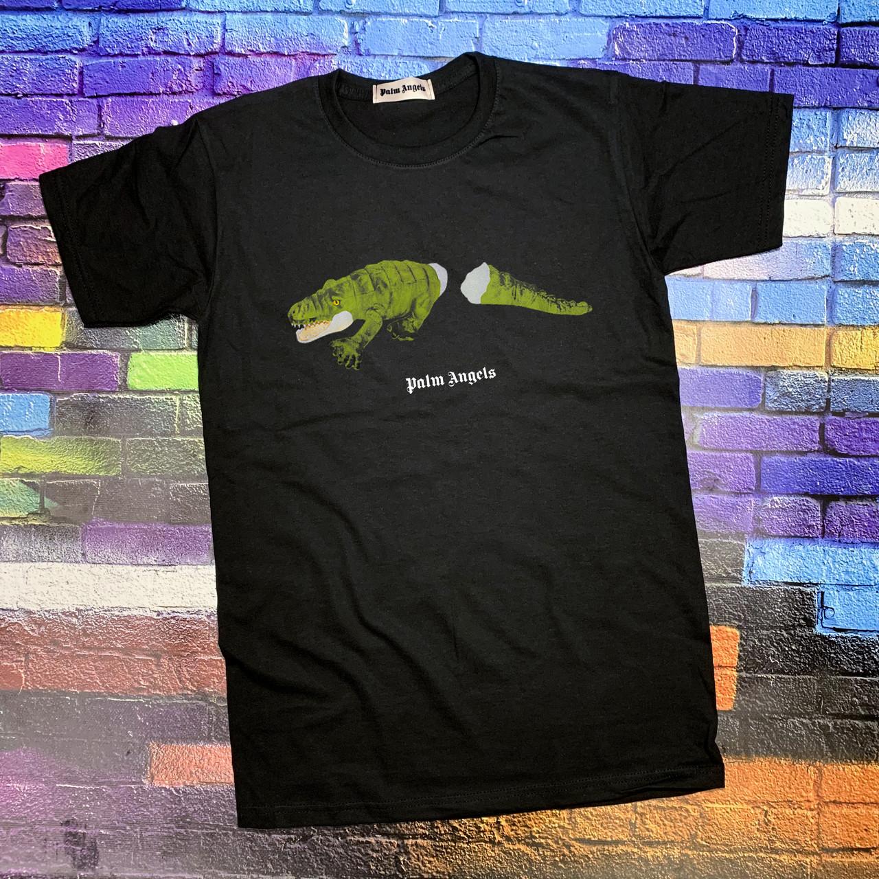 Футболка чорна Palm crocodile • Палм Анджелс футболка
