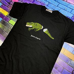 Футболка чорна Palm crocodile • Палм Анджелс футболка, фото 2
