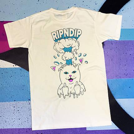 Біла футболка RipNDip • boom, фото 2