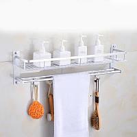 Полка для ванной Полка прямая Полка металлическая в ванную Полка из алюминиевого сплава длинна 53 см