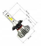 Светодиодные LED лампы S9 H4 для автомобиля | автолампы 6500K 4000lm, фото 3