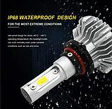 Светодиодные LED лампы S9 H4 для автомобиля | автолампы 6500K 4000lm, фото 7