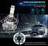 Светодиодные LED лампы S9 H4 для автомобиля | автолампы 6500K 4000lm, фото 8