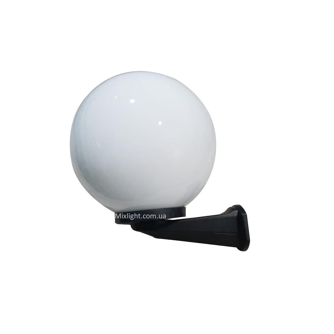 Світильник настінний вуличний куля опал d-30см