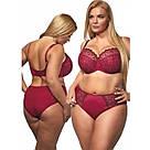 Бюстгальтер большого размера мягкий вишневый Kris Line Betty Польша, фото 3