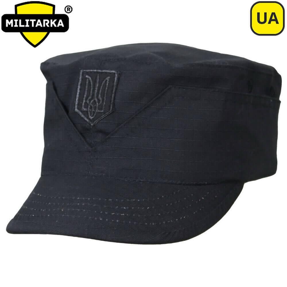 Мілітарка™ Кепка Мазепинка рип-стоп з кокардою чорна