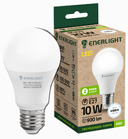 Лампа светодиодная 10Вт ENERLIGHT A60 230V 4100K 900Lm E27