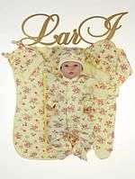 """Набор одежды для новорожденных девочек """"Rose"""" - 7 предметов, лимонный, фото 1"""