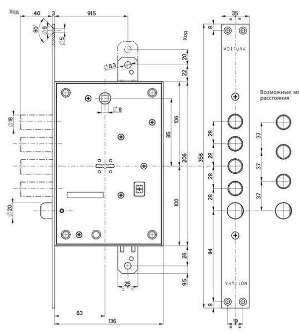 Схема замка Моттура 52.771