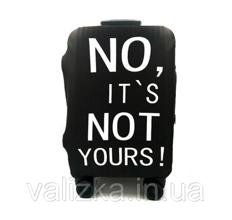 Чохол для середнього валізи чорним з принтом, фото 2
