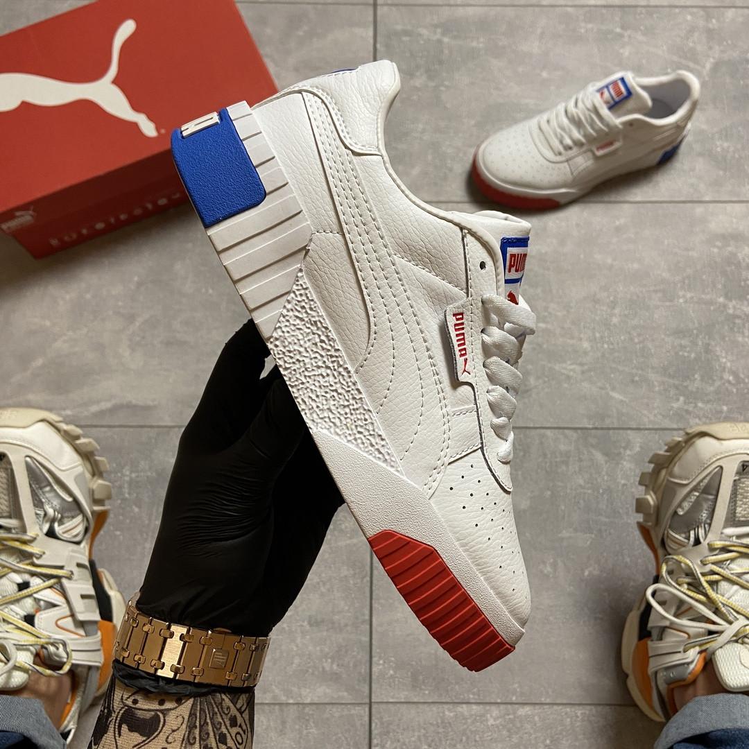 Жіночі кросівки Puma Cali White and Blue/Red.