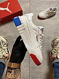 Жіночі кросівки Puma Cali White and Blue/Red., фото 5