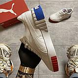 Жіночі кросівки Puma Cali White and Blue/Red., фото 9