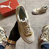 Жіночі кросівки Puma Select Cali Sport White Yellow., фото 4