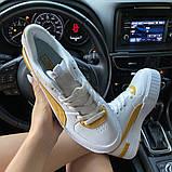 Жіночі кросівки Puma Select Cali Sport White Yellow., фото 8