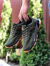 Мужские кроссовки сетка зеленые, фото 2