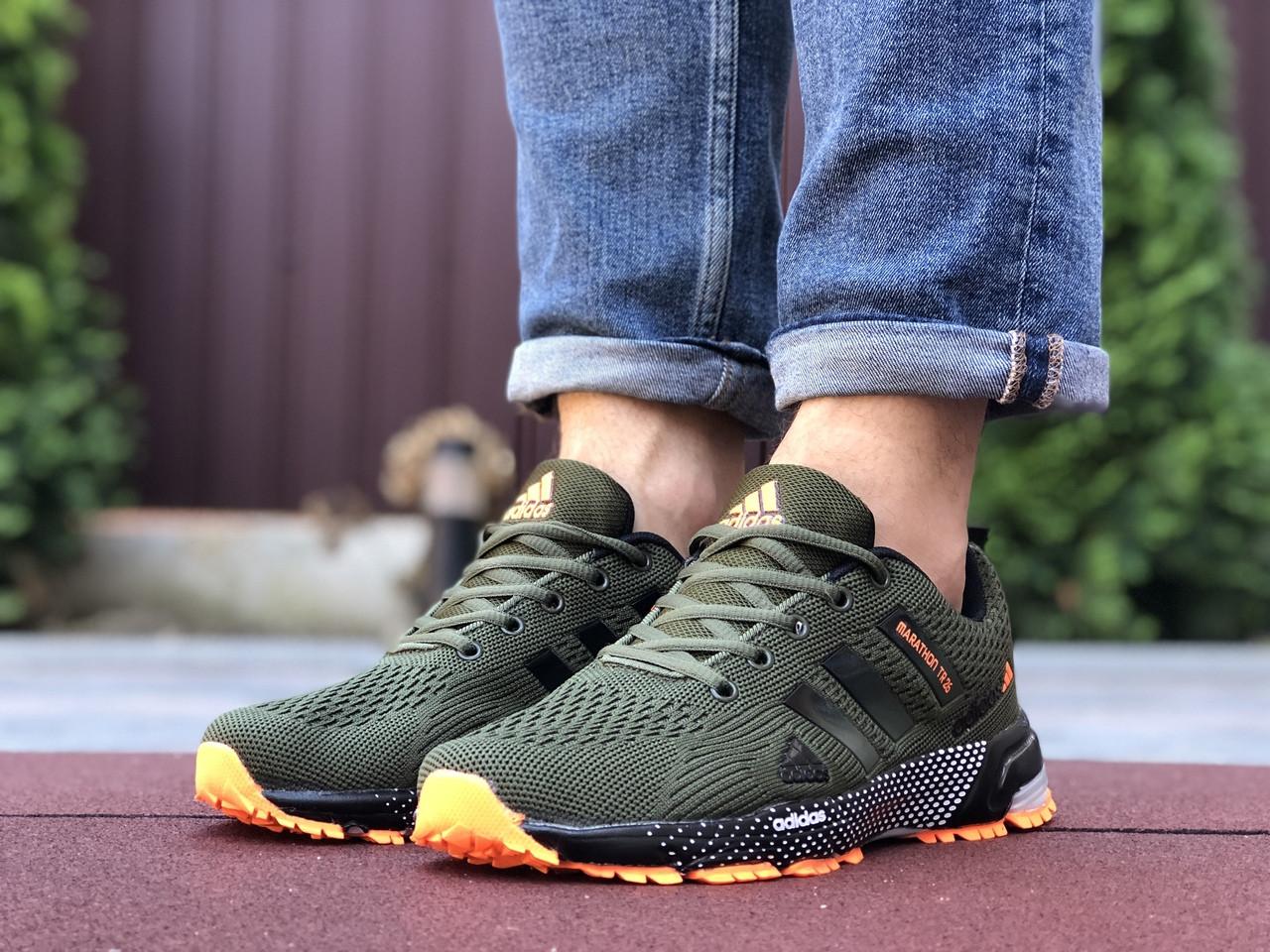 Мужские кроссовки сетка зеленые